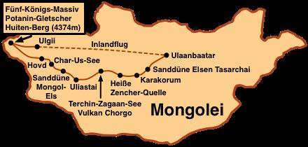Karte Altai - der Westen: EIne Reise ins Altai-Gebirge