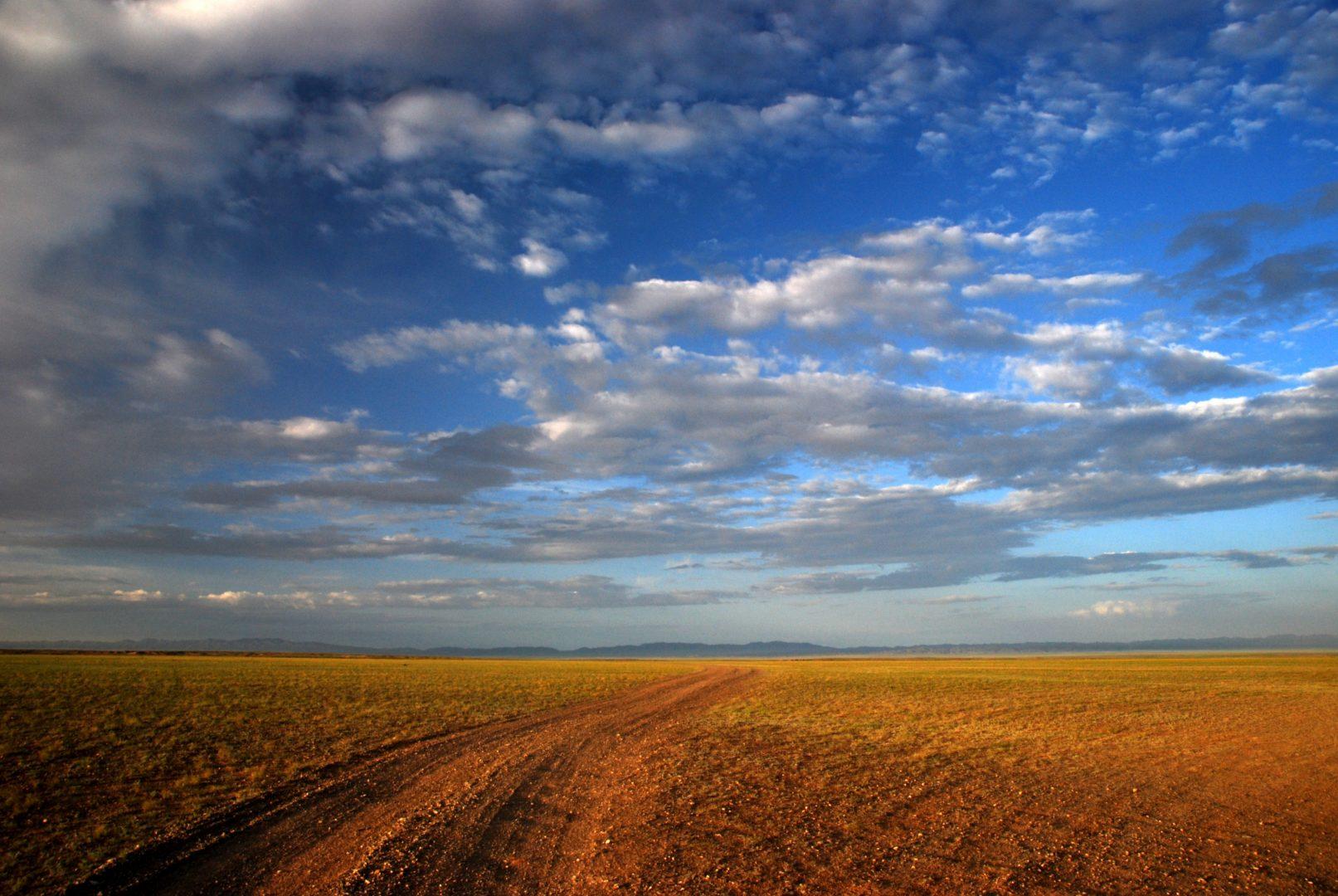 Endlose Weite in der Mongolei