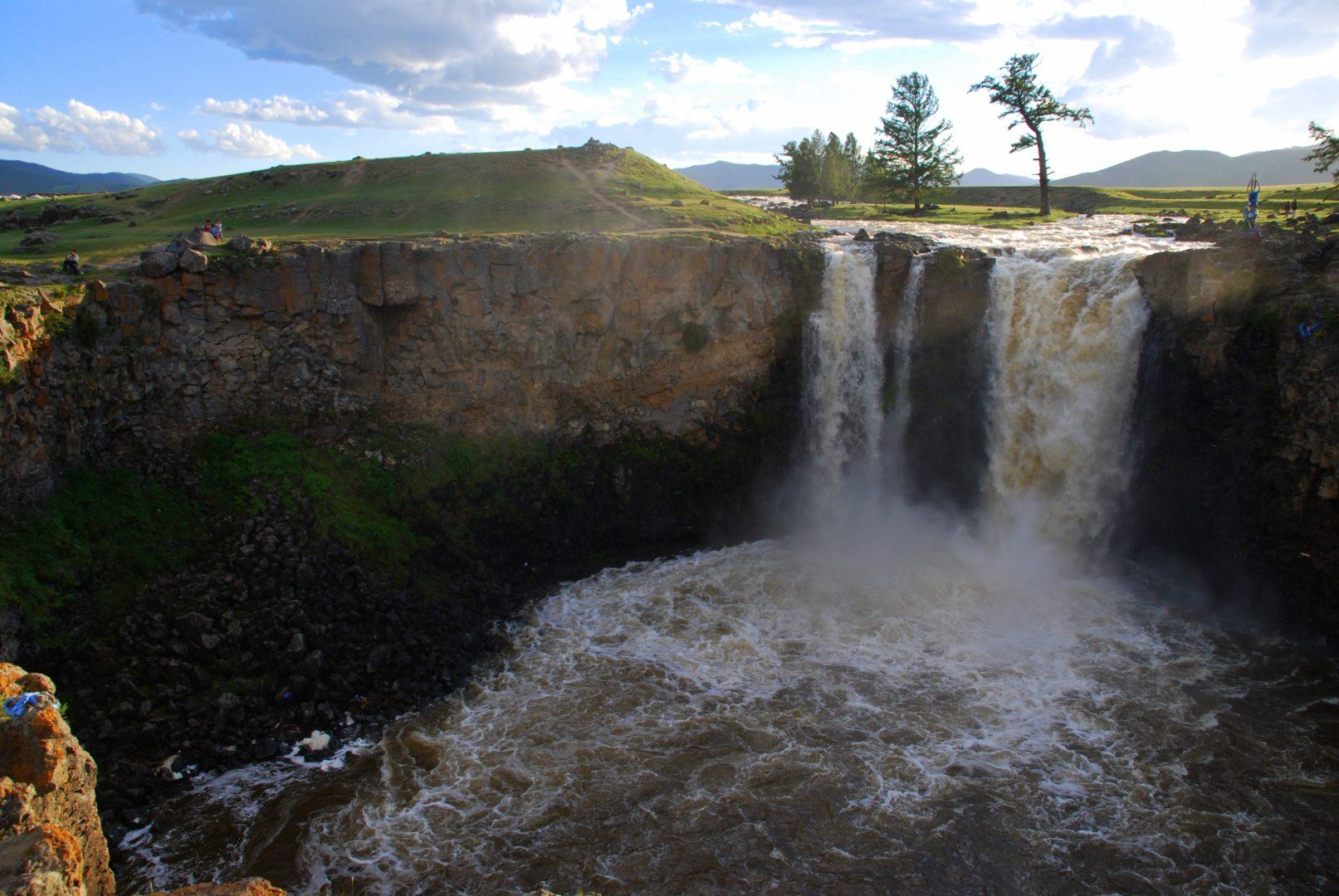 Ulaan-Wasserfall am Orchon-Tal