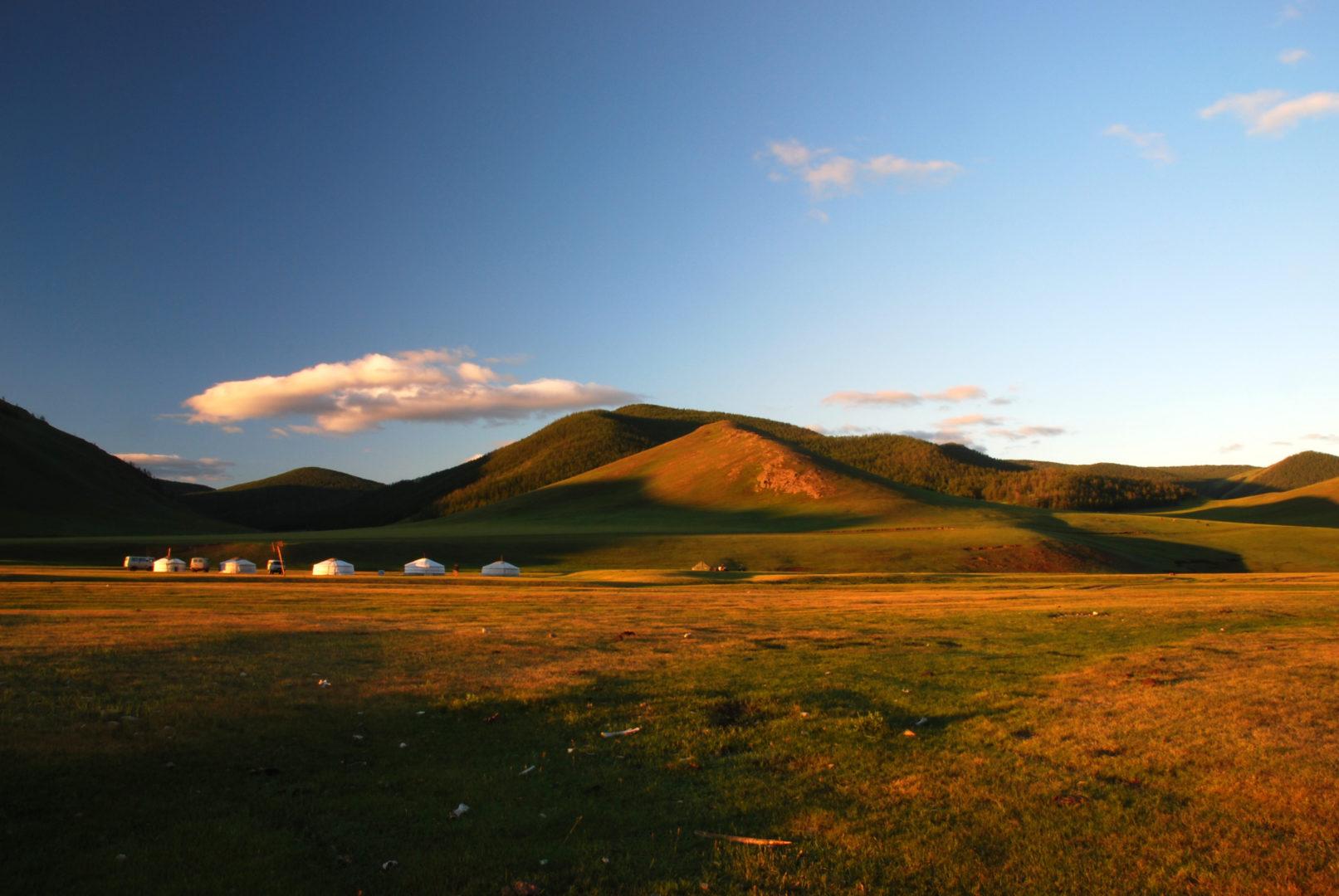 Übernachtung in Jurten in der Steppe
