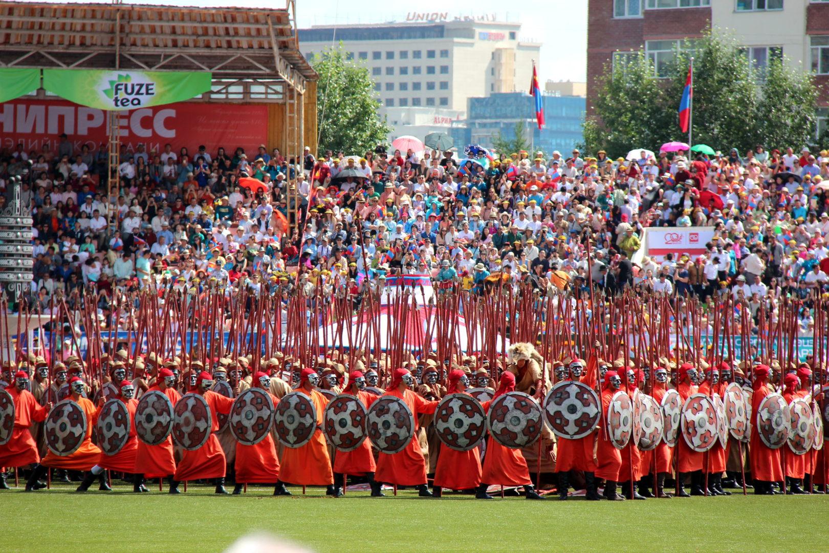 Eröffnung des Naadam-Festes