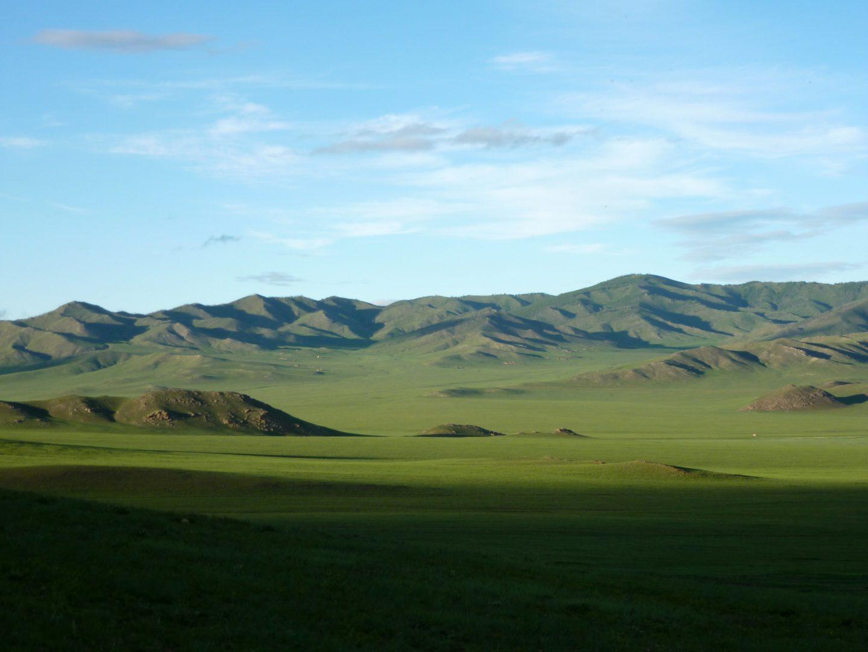 Landhschaft in der Mongolei