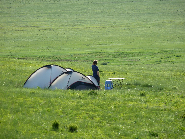 Einsamer Zeltlager
