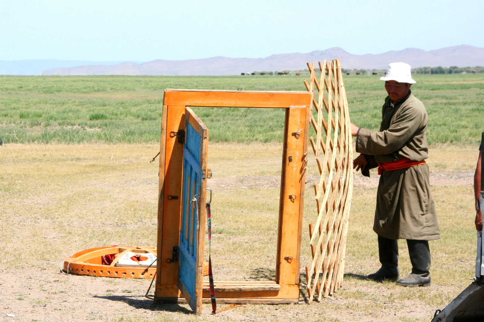 Mongolische Jurte (Ger) - Aufbau