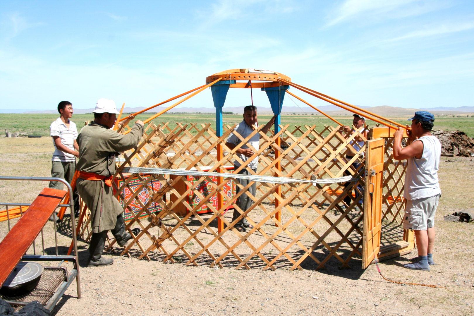 Aufbau einer Jurte