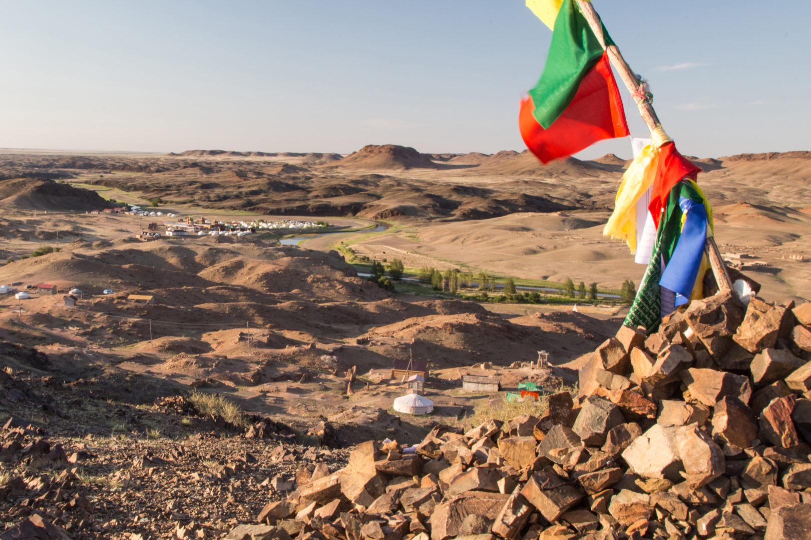 Ongi-Fluss in der Wüste Gobi