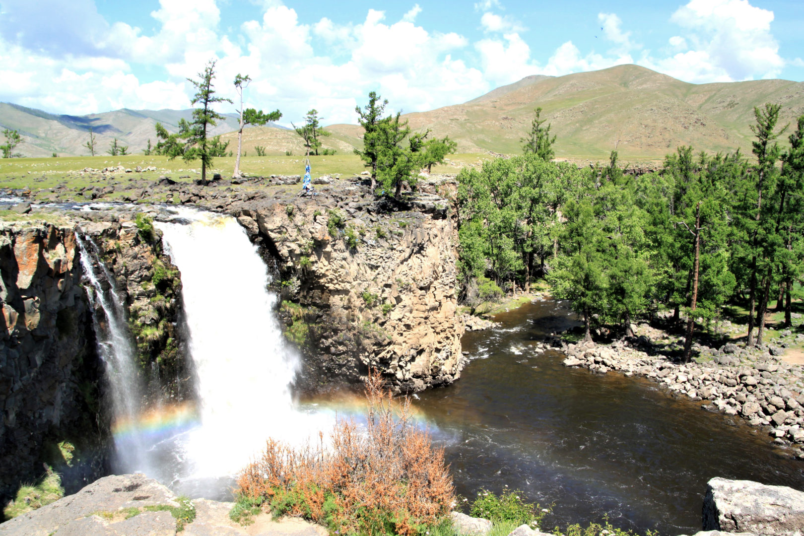 Wasserfall in der Zentralmongolei